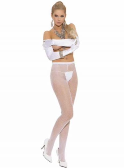 vita nätstrumpbyxor från elegant moments på modell