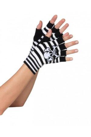 Leg avenue handskar med döskalle