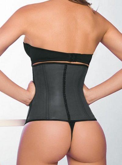 svart waist shaper på modell bak