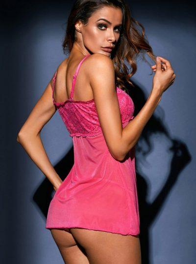 Babydoll - Pink Heart bak på modell