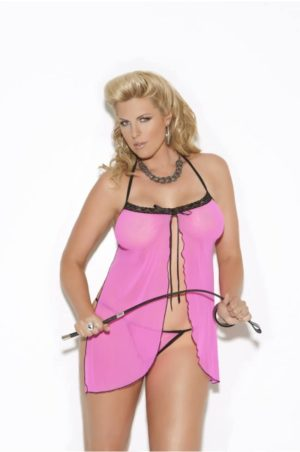 Babydoll - Hot Pink fram på modell