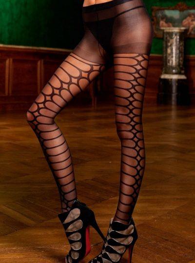 Strumpbyxor - Desire på modell närbild