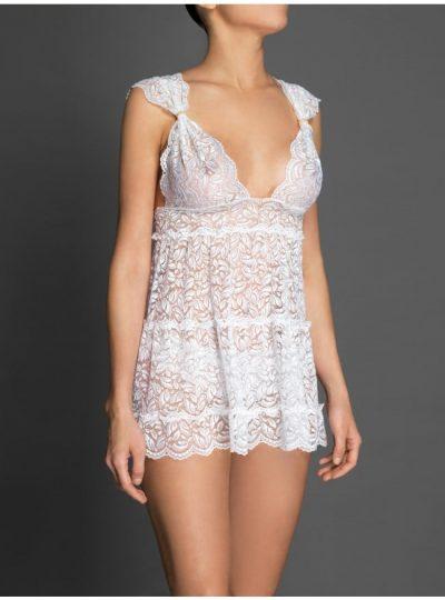 Lolita vit babydoll fram på modell