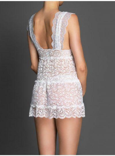 Lolita vit babydoll bak på modell