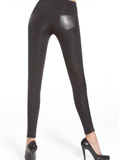 Svarta snygga leggings bak