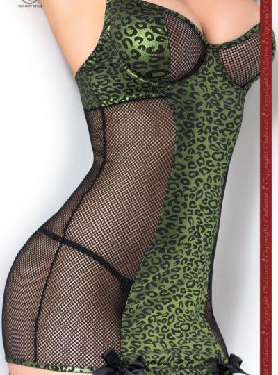 Babydoll - Green Leopard närbild
