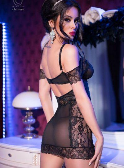 Nattlinne - Black Queen bak på modell