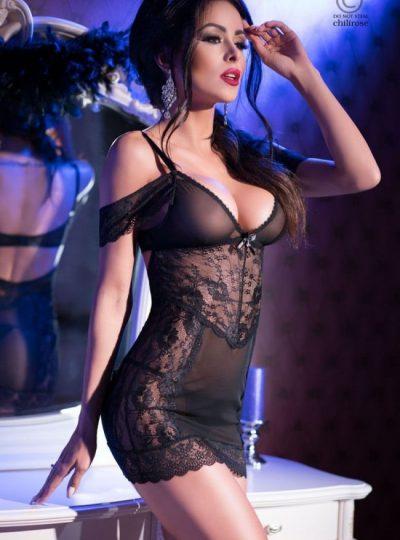 Nattlinne - Black Queen fram på modell