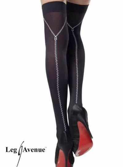 Nylonstrumpa - Zipper