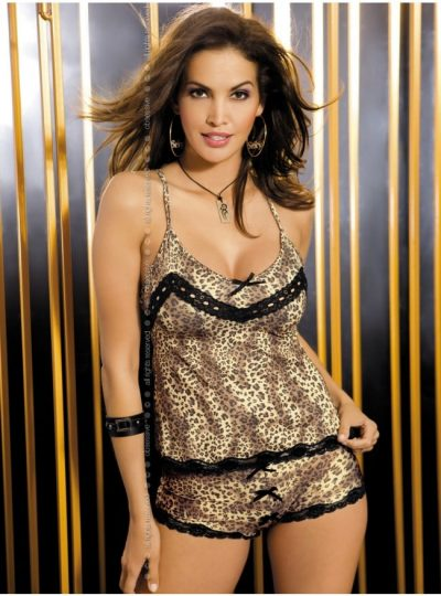 Felisia - Camie set i leopardmönster fram på modell
