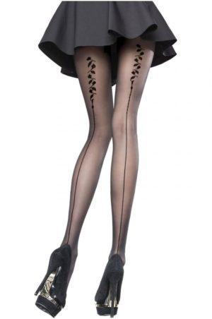 Heather - Strumpbyxor på modell bak