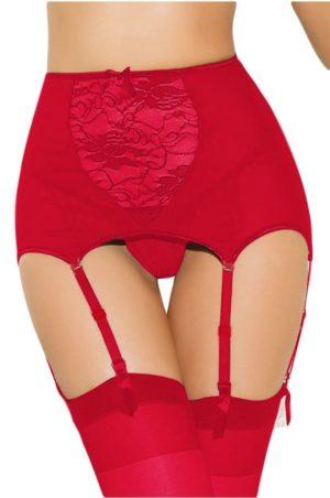 Korsetten underkläder röd höfthållare fram