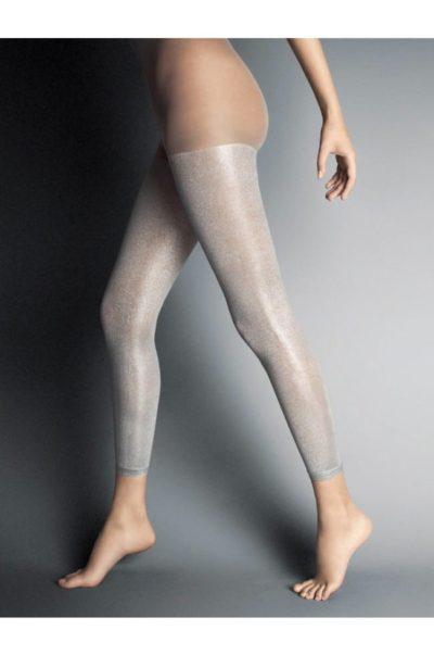 Snygga Leggings i silver - Panta Scarabeo på modell