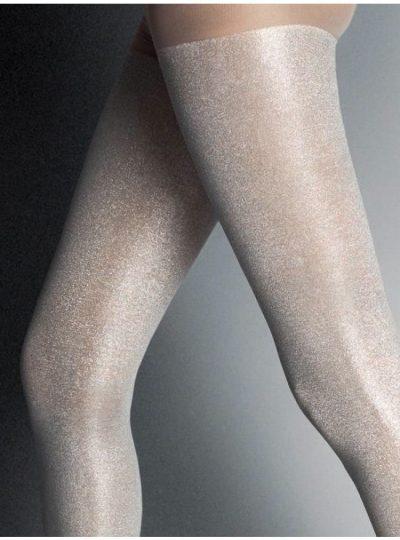 Snygga Leggings i silver - Panta Scarabeo närbild