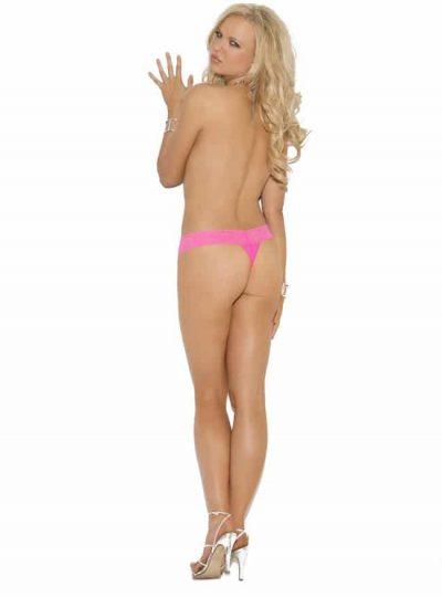 Spetstrosa - Hot Pink bak på modell