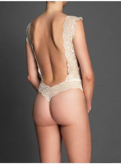 Ivory pärlbody Your Night bak på modell
