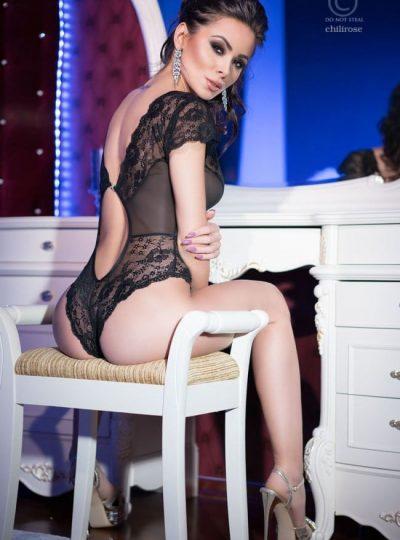 Teddy - Black lace bak på modell