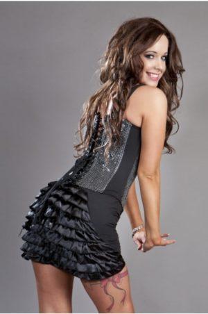 Kort kjol med volanger
