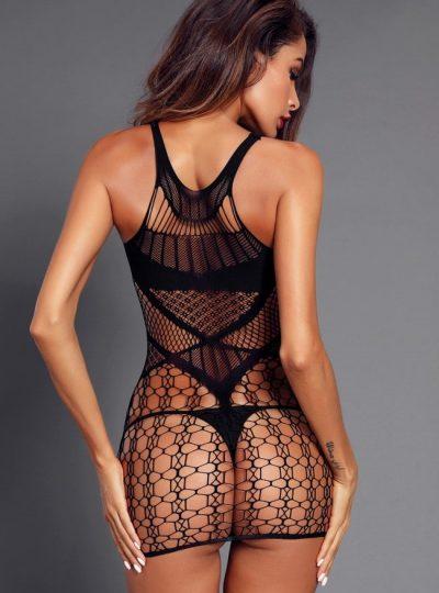 miniklänning med läckert mönster bakifrån