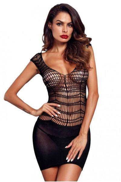 Svart miniklänning i läcker modell