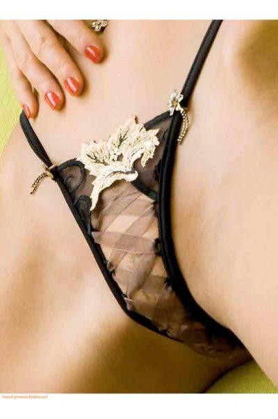 Mini stringtrosor med sensuell snörning - Bombay
