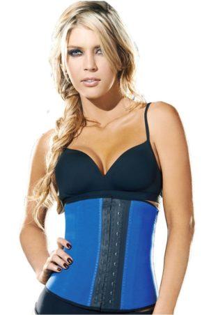 Ann Chery waist trainer i svart latex