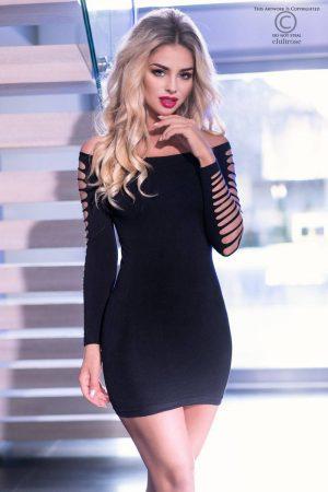 Svart klänning med öppningar