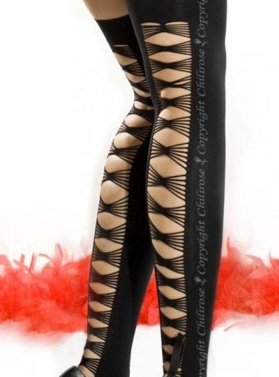 Svarta läckra strumpor