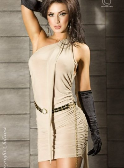 Panthera - Beige kort klänning