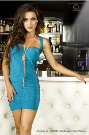 Panthera - Kort blå klänning