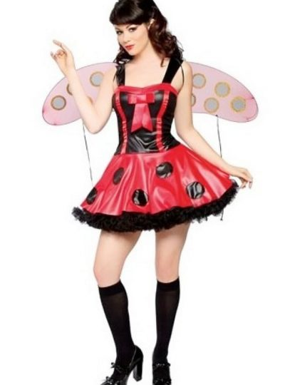 Lady bug dräkt till maskeradfest