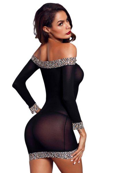 Sexig miniklänning med mönstrade kanter