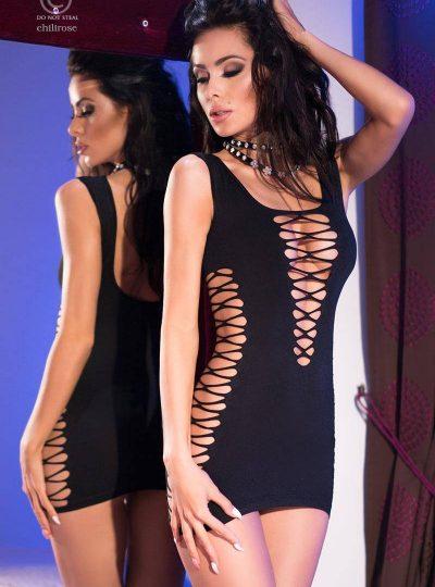 Kort klänning med läckra detaljer