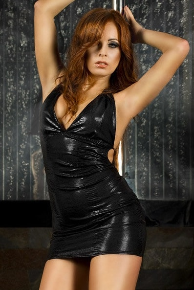 clubwear klänning i svart