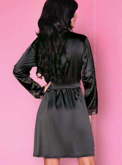 Vacker svart morgonrock i svart
