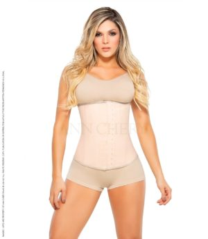 Beige waist trainer i latex