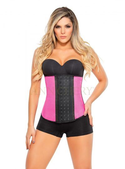 Waist trainer rosa metallic fram