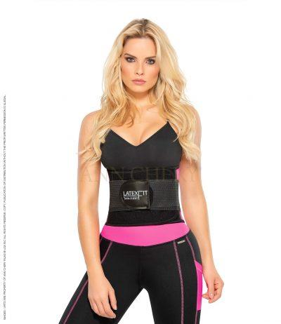 Fitnessbälte rosa latex