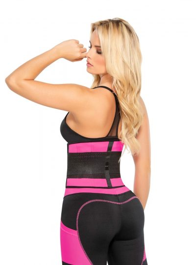 Fitnessbälte rosa latex bak