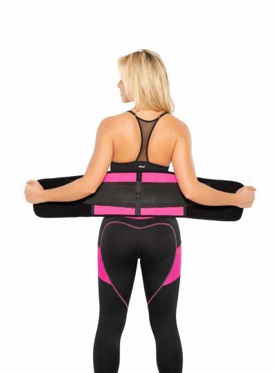 Fitnessbälte rosa latex öppen
