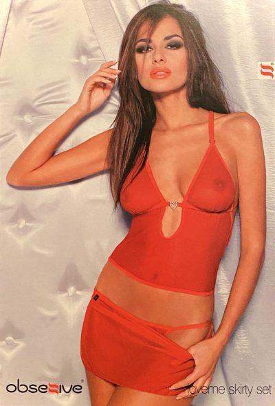 röda underkläder i set