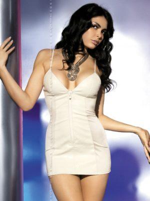 kort klänning med dragkedja fram