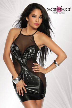 Sexig klänning med strass