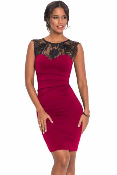 Röd elegant klänning