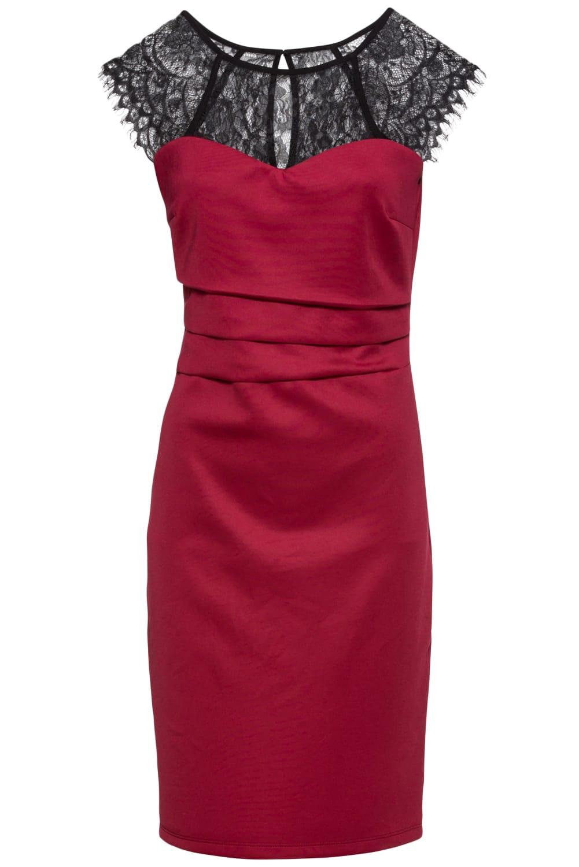 Röd klänning Polka Dots KORSETTEN.se