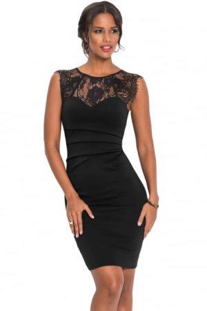 Vacker svart klänning
