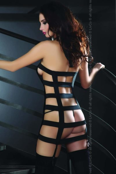 Sexig svart klänning