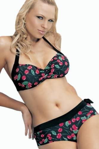 körsbärs mönstrad bikini