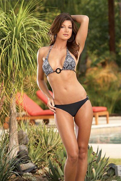 mönstrad bikini