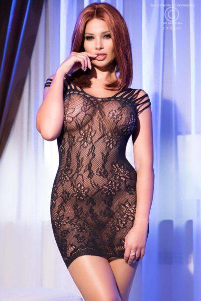 Miniklänning med läckert mönster